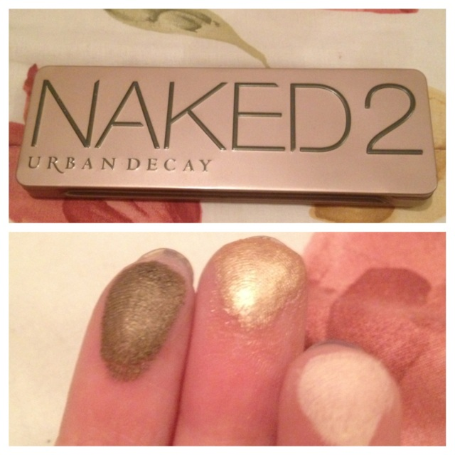 The Naked 2 pallet and the swatches below