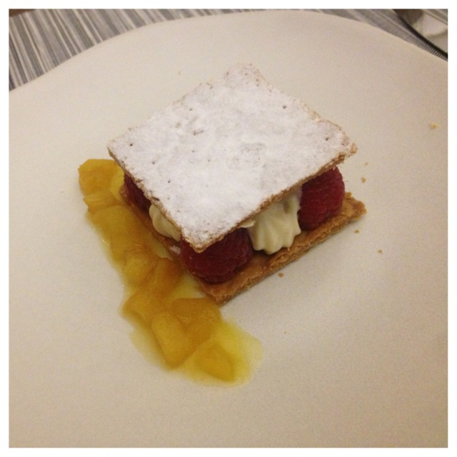 Pineapple & Raspberry Mille-Feuille